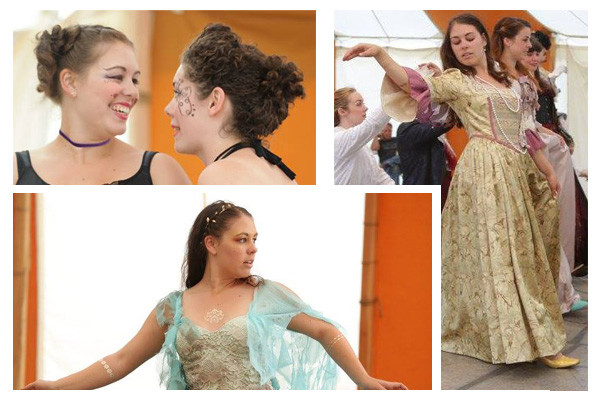 Laurel Livezey in Much Ado About Nothing (Ursula, 2013), The Tempest (Elemental, 2015), and The Three Musketeers (Ensemble, 2015)