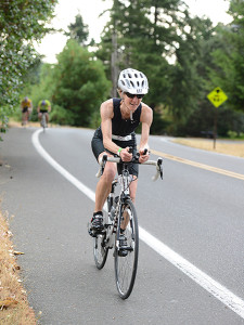 Miller in 2015 Black Hills Triathalon, Lacey, WA (photo courtesy of Elise Miller)