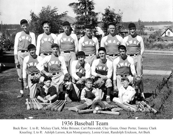 1936 Baseball team (photo courtesy of family archives)