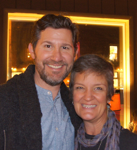 Eric Mulholland and Jami Sieber at a reception held at Ott & Murphy