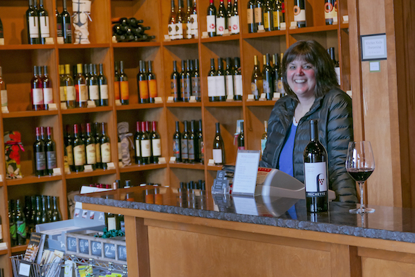 Laurel Davis and her husband Mike opened their wine shop in 2008 with a focus on Washington wines. (photo by Chris Korrow)