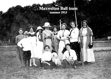 A 1913 women's team at Maxwelton field (photo courtesy of family archives)