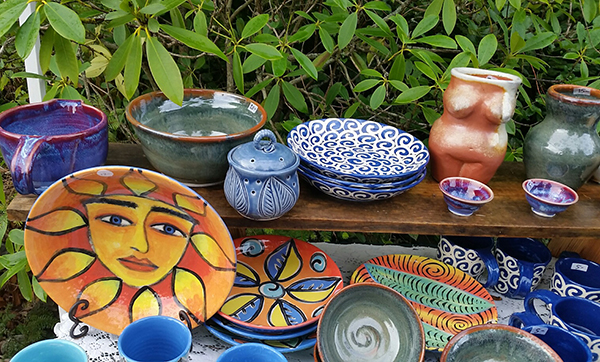 An array of pottery by artist Jodi Cable / Photo by Kate Poss