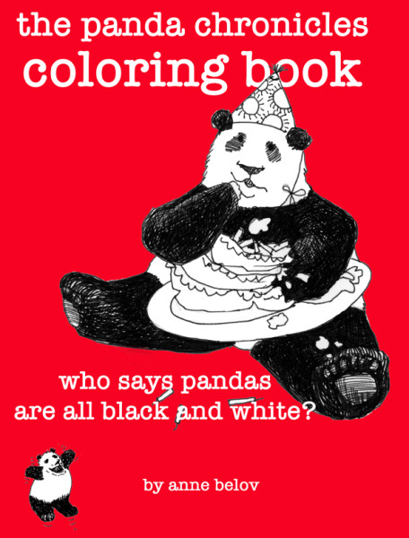 The only thing more cheery than pandas is coloring pictures of pandas.