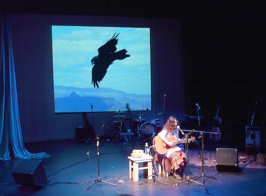 """Winter Happening for Shelter"" takes flight (photo by Eric Nussbaum)"