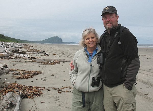 Church of the Low Tide at Haida Gwaii with husband Bill Graves (photo courtesy of Frances Wood)