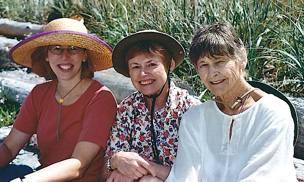 Three generations of walkers, Nan El-Sayed on the right, daughter Christi Shaffer in the middle, and granddaughter Megan Bean on 2003 (Photo courtesy of Christi Shaffer)