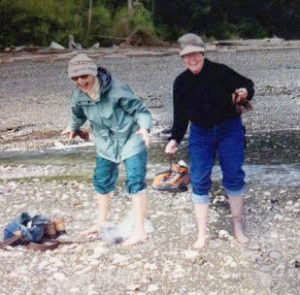 "From the archives—two ladies in their ""short pants"" (Photo courtesy of Ladies of the Beach)"