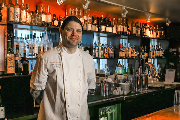 Head chef Sieb Jurriaans and his wife Jenn opened Prima Bistro in 2006. (photo by Chris Korrow)