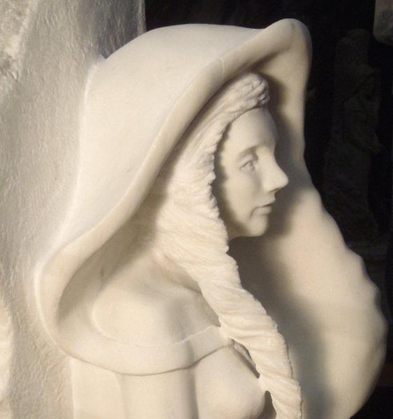 The Celtic Apprentice (Italian Marble) (photo courtesy of the artist)