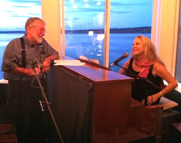 Nancy Nolan and Larry Shafer entertain on another night. (photo courtesy of Nancy Nolan)