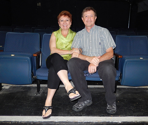 Sue and Jim Riney have been involved with the Playhouse for 35 years. (photo by Harry Anderson)