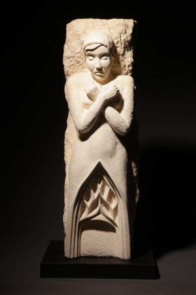 """Gothic Guardian,"" limestone (photo by Michael Stadler)"