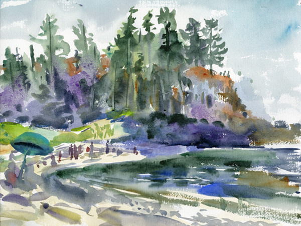 Rosario Beach (sketch by Kris Wiltse)