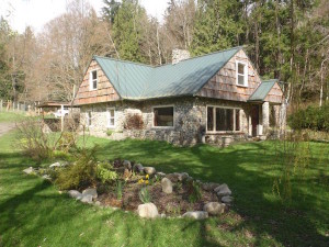 Morosco's stone cottage on Whidbey Island (photo courtesy of the artist)