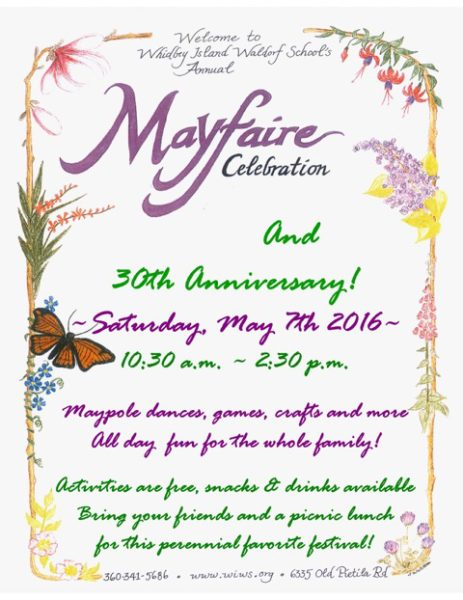 MayFaire poster (courtesy of Whidbey Island Waldorf School)