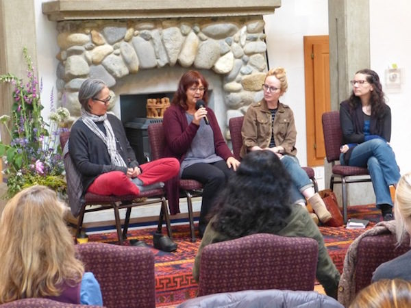 Questions and answers in the afternoon with (left to right) Ruth Ozeki, Rahna Reiko Rizzuto, Dani Shapiro, and Hannah Tinti   (photo by Catherine Willis Cleveland)