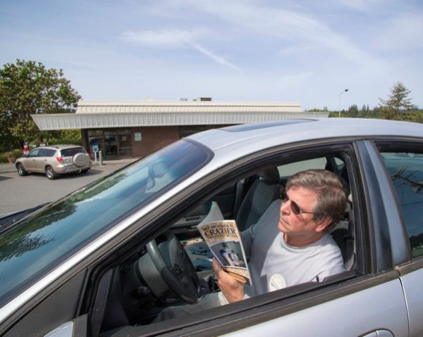 You can read in the parking lot, but best not to read while driving. (Photo by David Welton)