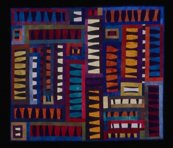 """One of Steadman's favorite quilts, """"I Love a Mystery,"""" graced the cover of the book """"Art Quilts: A Celebration: 400 Stunning Contemporary Designs."""" (Photo by Roger Schreiber)"""