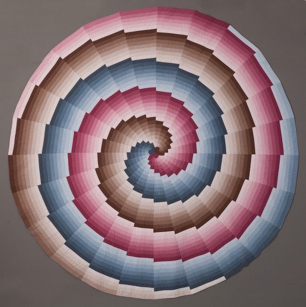 """""""Spiral Progression,"""" 120 inches in diameter. (Photo by Jim Lincoln)"""