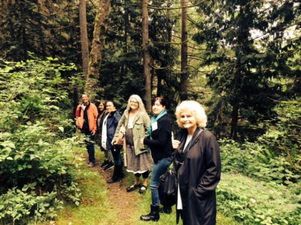 They came from all over—writing women walking the walk!   (photo by Catherine Willis Cleveland)