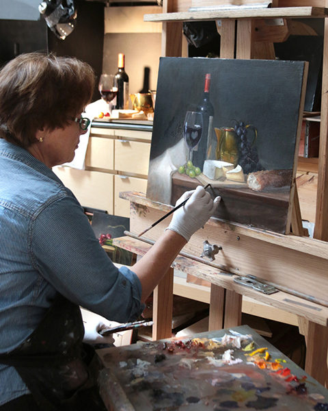 Cary Jurriaans' painting methods are inspired by Dutch masters.