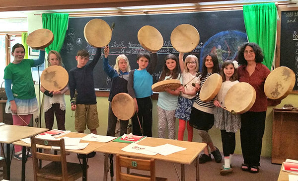 WIWS student drums made at Potlatch. (photo by Kate Poss)