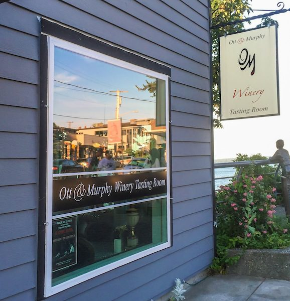 The Ott & Murphy Winery Tasting Room in downtown Langley (photo courtesy of Chris Korrow)
