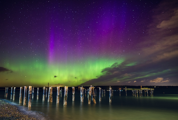 Northern Lights on the Langley waterfront last May (photo by Holly Davison)