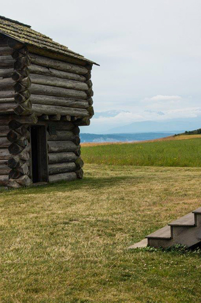 The block house of Isaac Ebey (photo by Marcia Wesley)