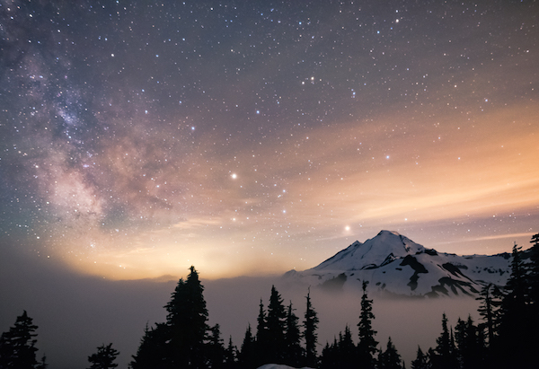 Mt. Baker's night sky, a favorite place to visit (photo by Holly Davison)