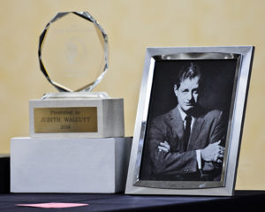 Norman Corwin Award and the man for whom it is named (photo by Ken Solo)