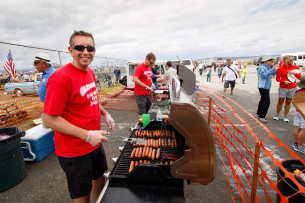 Fun and games, and hot dogs awaited at Dave Mackie Park.