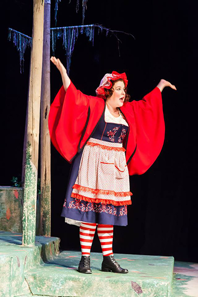 """Into the Woods"" is one of Woodzick's favorite shows. They played Little Red Riding Hood at Whidbey Island Center for the Arts. (photo by Tyler Raymond)"