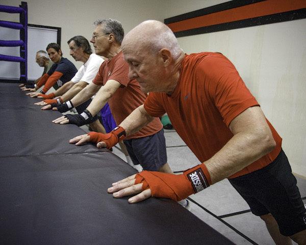 Calisthenics help develop boxers' upper body strength.