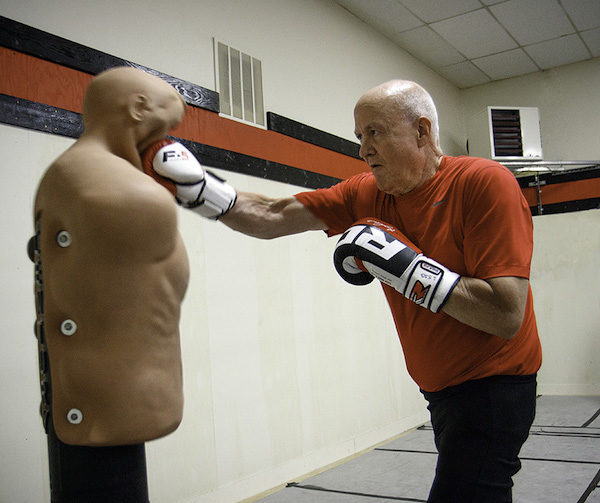 """The Body Opponent Bag we call """"BOB"""" is a life-like stationary dummy who patiently takes his punishment."""