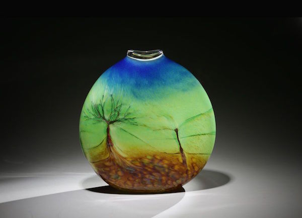 Robert Adamson and his wife Janis Swalwell have been creating hand-blown glass art for nearly 50 years. (photo courtesy of Island Art Glass)