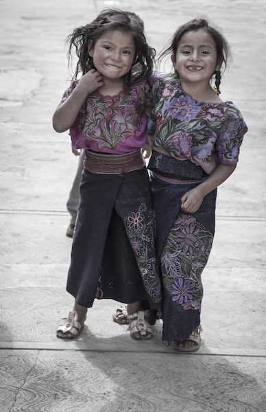 Young girls from Chiapas, Mexico