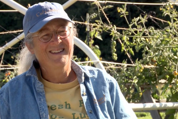 Carey Peterson, a master at creating community and self-sufficiencey through gardening (from the film Cultivating Kids by Mark Dworkin and Melissa Young)