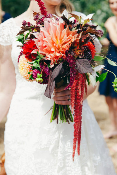 Bridal bouquet by Melissa Brown, Flying Bear Farm. Photo by Krista Welch, Love Song Photo