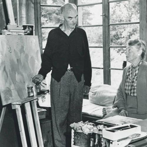 Peter and Margaret Camfferman in studio