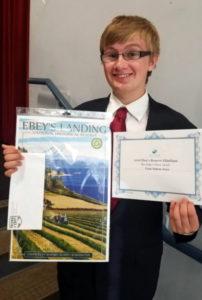 Cody Berit with award